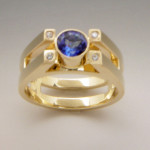 4352 Double Banding tanzanite & diamond
